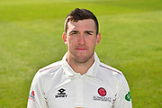 Head shot of Craig Overton of Somerset during the 2019 media day at Somerset County Cricket Club at the Cooper Associates County Ground, Taunton, United Kingdom on 2 April 2019.