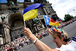 Fan at the men's 42km Marathon Race during the 2009 IAAF Athletics World Championships on August 22, 2009 in Berlin, Germany. (Photo by Vid Ponikvar / Sportida)