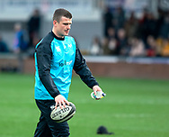 Scott Williams of Ospreys during the pre match warm up<br /> <br /> Photographer Simon King/Replay Images<br /> <br /> Guinness PRO14 Round 12 - Dragons v Ospreys - Sunday 30th December 2018 - Rodney Parade - Newport<br /> <br /> World Copyright © Replay Images . All rights reserved. info@replayimages.co.uk - http://replayimages.co.uk