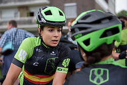 Sheyla Gutierrez and Barbieri talk about the race after Boels Rental Ladies Tour Stage 2 a 132.8 km road race from Eibergen to Arnhem, Netherlands on August 30, 2017. (Photo by Sean Robinson/Velofocus)
