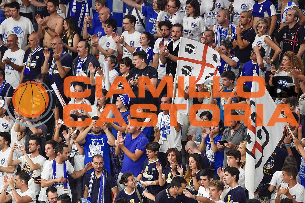 DESCRIZIONE : Campionato 2014/15 Serie A Beko Dinamo Banco di Sardegna Sassari - Grissin Bon Reggio Emilia Finale Playoff Gara4<br /> GIOCATORE : Commando Ultra' Dinamo<br /> CATEGORIA : Ultras Tifosi Spettatori Pubblico Ritratto Esultanza<br /> SQUADRA : Dinamo Banco di Sardegna Sassari<br /> EVENTO : LegaBasket Serie A Beko 2014/2015<br /> GARA : Dinamo Banco di Sardegna Sassari - Grissin Bon Reggio Emilia Finale Playoff Gara4<br /> DATA : 20/06/2015<br /> SPORT : Pallacanestro <br /> AUTORE : Agenzia Ciamillo-Castoria/GiulioCiamillo