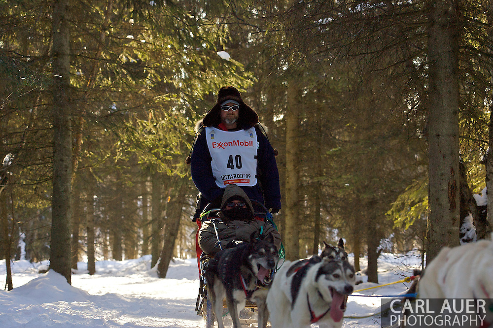 March 7th, 2009:  Anchorage, Alaska - Bruce Linton of Kasilof, Alaska during the 2009 Iditarod Ceremonial Start.