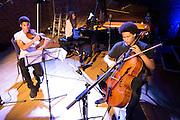 Sheku Kanneh-Mason playing cello at the RPS Music Awards with members of Chineke!<br /> Shortlisted for the RPS Music Award for Ensemble<br /> Perform at the RPS Music Awards, London, Tuesday 10 May