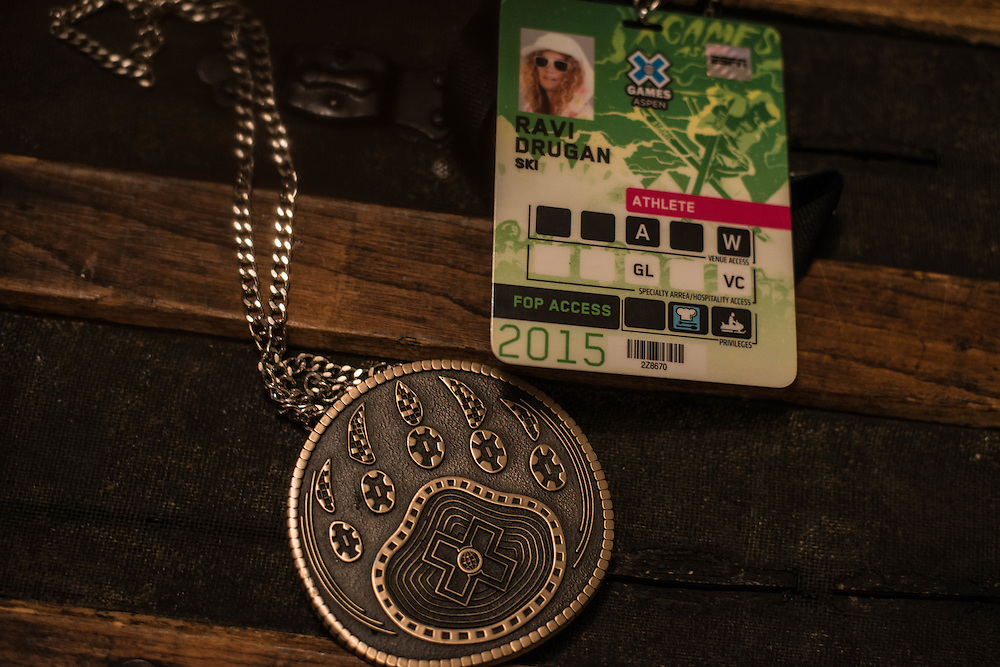 Ravi's bronze medal and pass from the 2015 X-Games.