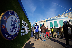 LONDON, ENGLAND - Saturday, October 31, 2015: An exterior view of Chelsea's Stamford Bridge before the Premier League match against Liverpool. (Pic by Lexie Lin/Propaganda)