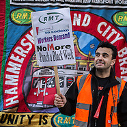 23 Jan. 2015 - The RMT Union protest demands Sodexo reinstate Petrit Hihaj.