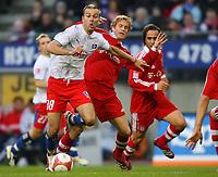 Danijel Ljuboja HSV  Andreas Ottl Bayern<br /> Hamburg<br /> Jubel etter scoring Ali Karimi Mitte, Hasan Salihamidzic, Claudio Pizarro<br /> Oliver Kahn <br /> Hamburger SV - FC Bayern Muenchen<br /> Vennskapskamp Friendly<br /> 20.01.07<br /> DIGITALSPORT / NORWAY ONLY