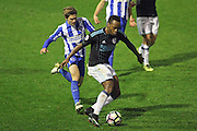 U23 West Bromwich Albion striker Saido Berahino (9) shoots at goal during the U23 Premier League match between U23 Brighton and Hove Albion and U23 West Bromwich Albion at the Checkatrade.com Stadium, Crawley, England on 19 December 2016.