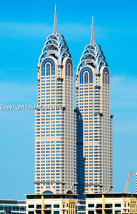 Al Kazim Towers, reproduction of Chrysler Building, in Dubai United Arab Emirates