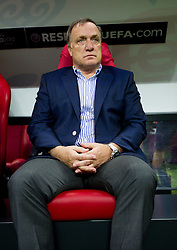 16-06-2012 VOETBAL: UEFA EURO 2012 DAY 9: POLEN OEKRAINE<br /> Dick Advocaat, head coach during the UEFA EURO 2012 group A match between  Greece and Russia at The National Stadium<br /> ***NETHERLANDS ONLY***<br /> ©2012-FotoHoogendoorn.nl