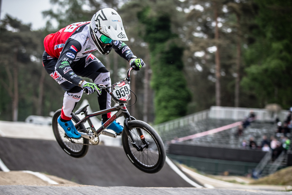 #959 (SCHOTMAN Mitchel) NED at Round 6 of the 2018 UCI BMX Superscross World Cup in Zolder, Belgium