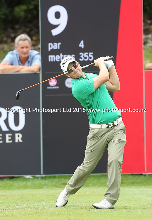 Australia`s Kristopher Mueck in the Holden NZ PGA Championship, Remuera Golf Club, Auckland, New Zealand, Saturday, March 07, 2015. Copyright photo: David Rowland/www.photosport.co.nz