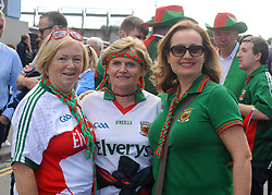 Mary Higgins Muriel Costello and Imelda Higgins from Ballindine at the All Ireland Football Final.<br /> Pic Conor McKeown