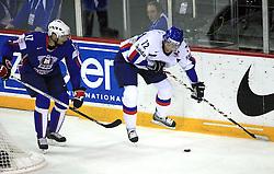 Jurij Golicic of Slovenia and Andrej Kollar of Slovakia at ice-hockey game Slovenia vs Slovakia at Relegation  Round (group G) of IIHF WC 2008 in Halifax, on May 09, 2008 in Metro Center, Halifax, Nova Scotia, Canada. Slovakia won 5:1. (Photo by Vid Ponikvar / Sportal Images)