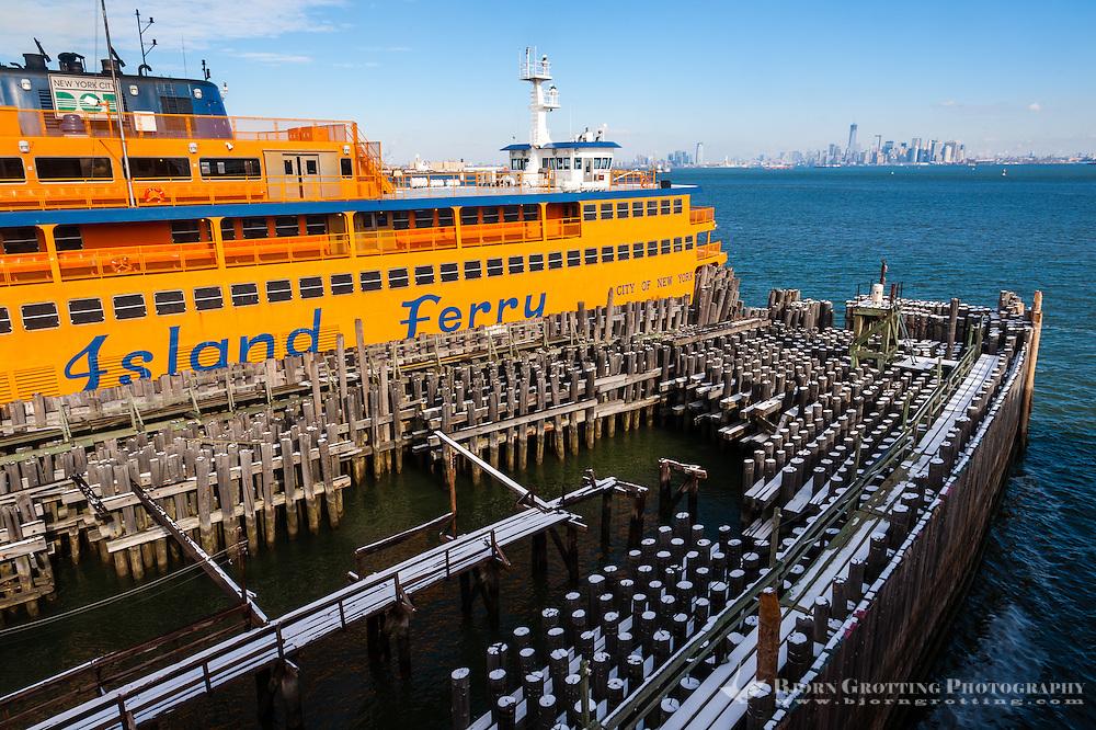 US, New York City. Saint George Ferry Terminal on Staten Island.