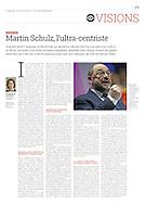 Martin Schulz dans l'hebdomadaire La Tribune.