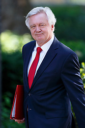 © Licensed to London News Pictures. 19/07/2016. London, UK. Brexit Secretary DAVID DAVIS attending the first cabinet meeting under Theresa May's leadership in Downing Street on Tuesday, 19 July 2016. Photo credit: Tolga Akmen/LNP