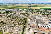 Nederland, Noord-Holland, Hoofddorp, 01-08-2016; centrum Hoofddorp, Hoofdvaart en Hoofdweg, kruising met Kruisweg. Polderbaan in de achtergrond.<br /> Hoofddorp, historical city centre.<br /> luchtfoto (toeslag op standard tarieven);<br /> aerial photo (additional fee required);<br /> copyright foto/photo Siebe Swart