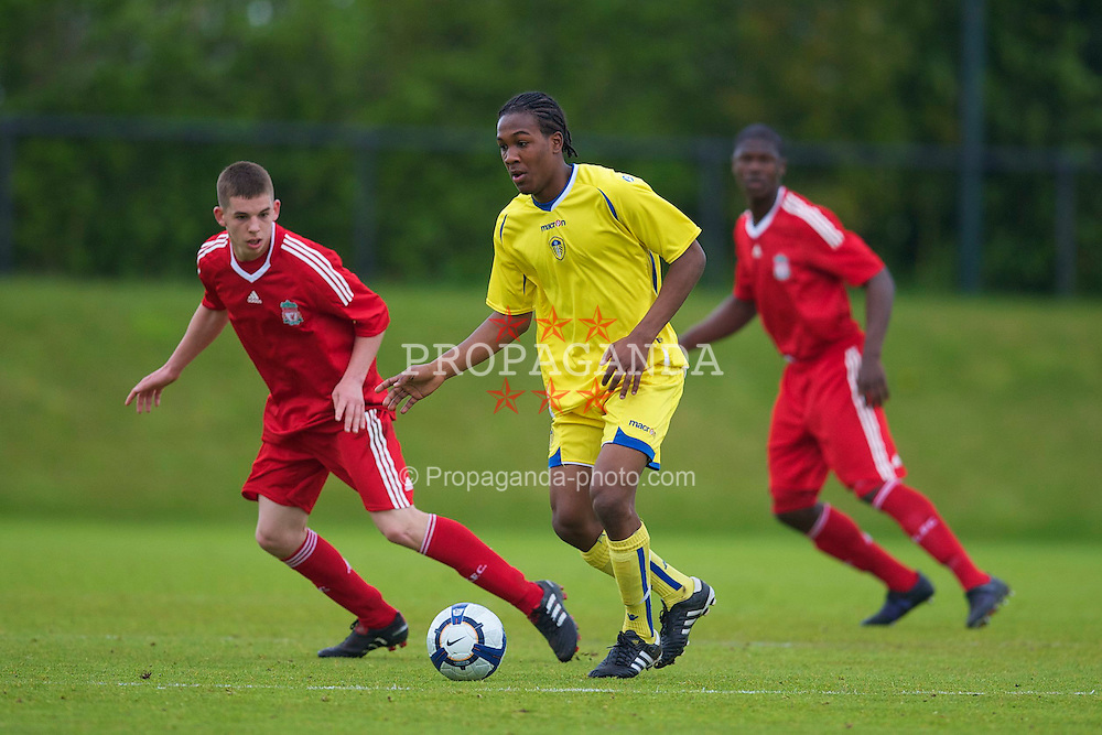 LIVERPOOL, ENGLAND - Thursday, April 29, 2010: Leeds United's Dominic Poleon during the FA Academy Under-18's League match against Liverpool at the Academy. (Photo by David Rawcliffe/Propaganda)