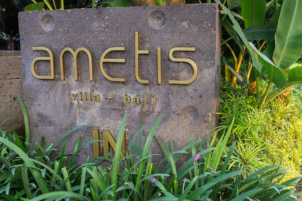 Exterior of Ametis Villa in Canggu.  Bali, Indonesia.