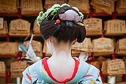 Geisha in Heian Shrine in Kyoto