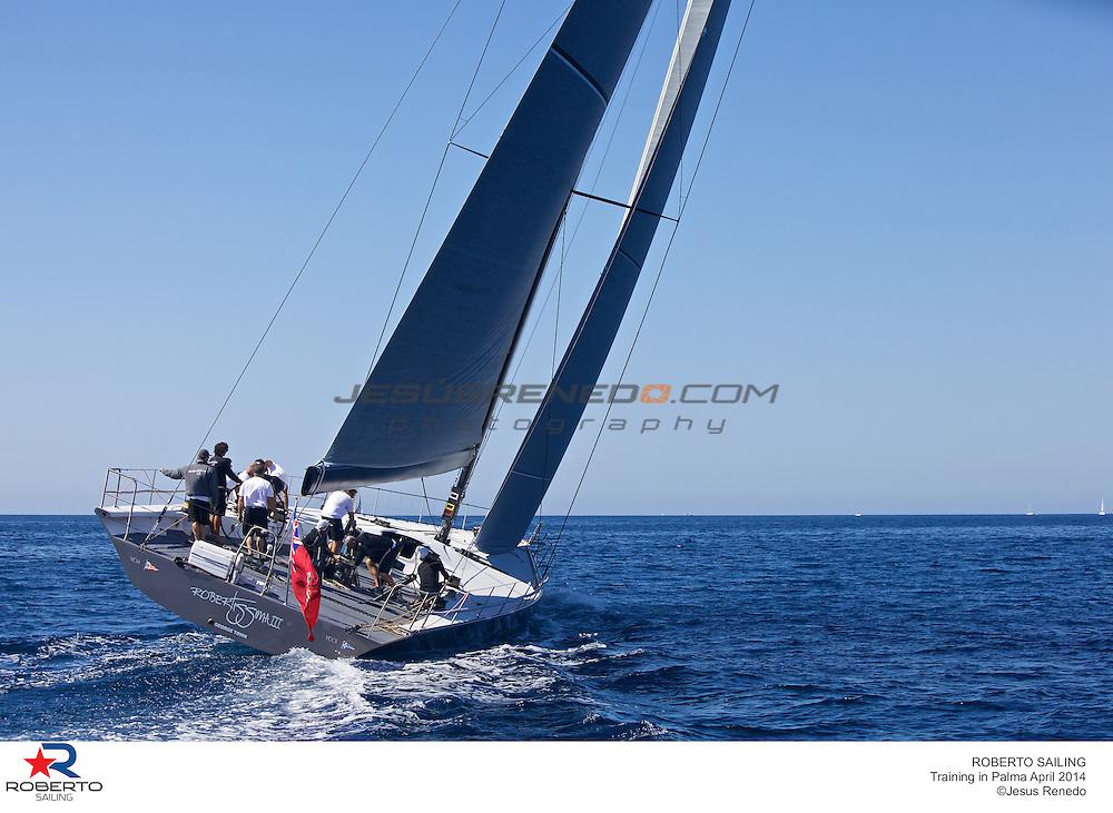 MiniMaxi JV 72 Robertissima III, training in Mallorca, 2014-04-18