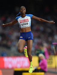 August 11, 2017 - London, England, United Kingdom - Lorraine Ugen of Great Britain jumps in the long jump final in London at the 2017 IAAF World Championships athletics at the London Stadium in London on August 11, 2017. (Credit Image: © Ulrik Pedersen/NurPhoto via ZUMA Press)