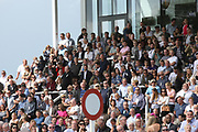 The crowds in the main stand enjoying a days horse racing during Uttoxeter Races at Uttoxeter Racecourse, Uttoxeter, United Kingdom on 30 July 2017. Photo by John Potts.