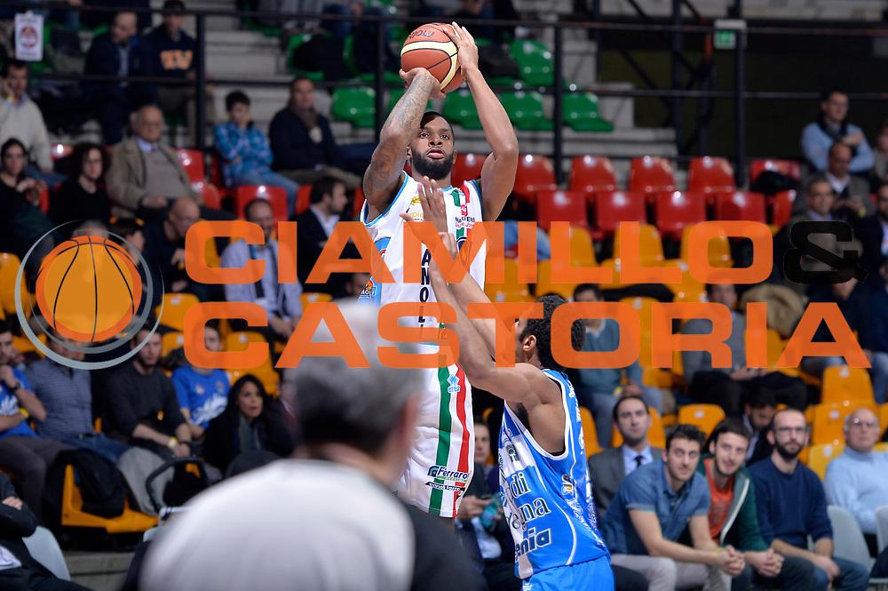 DESCRIZIONE : Final Eight Coppa Italia 2015 Desio Quarti di Finale Dinamo Banco di Sardegna Sassari - Vanoli Cremona<br /> GIOCATORE : Cameron Clark<br /> CATEGORIA : tiro three points<br /> SQUADRA : Vanoli Cremona<br /> EVENTO : Final Eight Coppa Italia 2015 Desio<br /> GARA : Dinamo Banco di Sardegna Sassari - Vanoli Cremona<br /> DATA : 20/02/2015<br /> SPORT : Pallacanestro <br /> AUTORE : Agenzia Ciamillo-Castoria/Max.Ceretti
