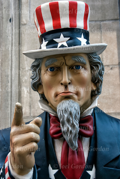 Uncle Sam Outdoor Store Display in New York City.<br />