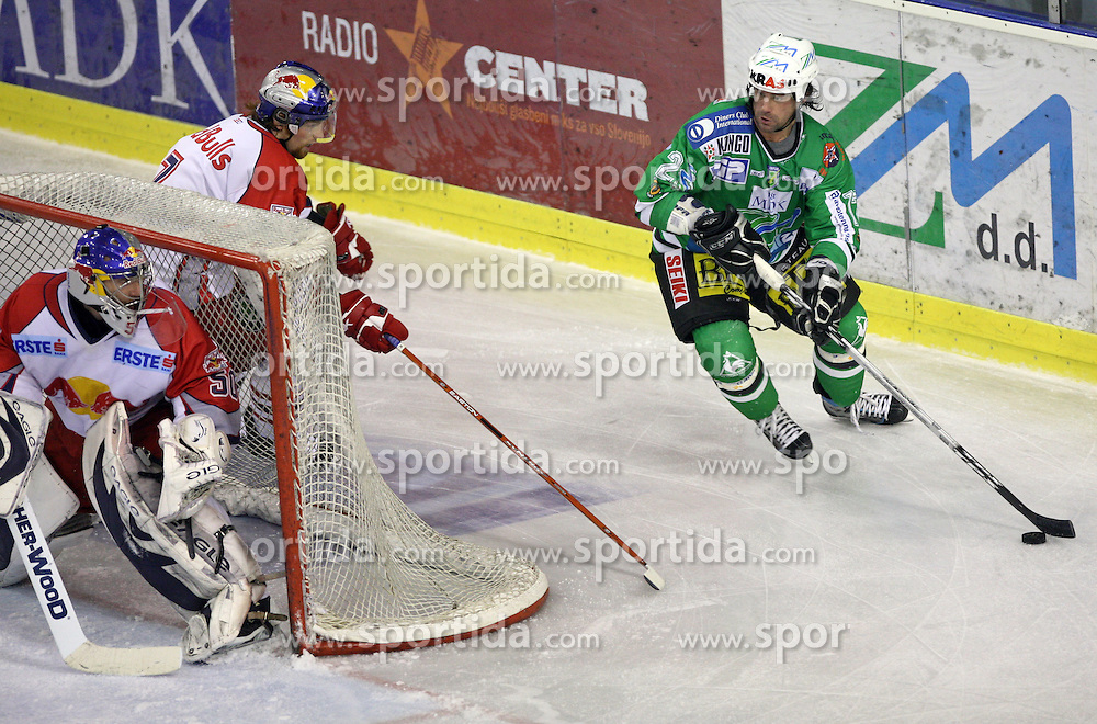 Todd Elik at sixth game of the Final of EBEL league (Erste Bank Eishockey Liga) between ZM Olimpija vs EC Red Bull Salzburg,  on March 25, 2008 in Arena Tivoli, Ljubljana, Slovenia. Red Bull Salzburg won the game 3:2 and series 4:2 and became the Champions of EBEL league 2007/2008.  (Photo by Vid Ponikvar / Sportal Images)..