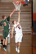 Middletown, NY - Ryan McMillin (5) of SUNY Orange takes a shot against Rockland Community College in a Mid-Hudson Conference men's basketball game in Middletown on Feb. 26, 2008.