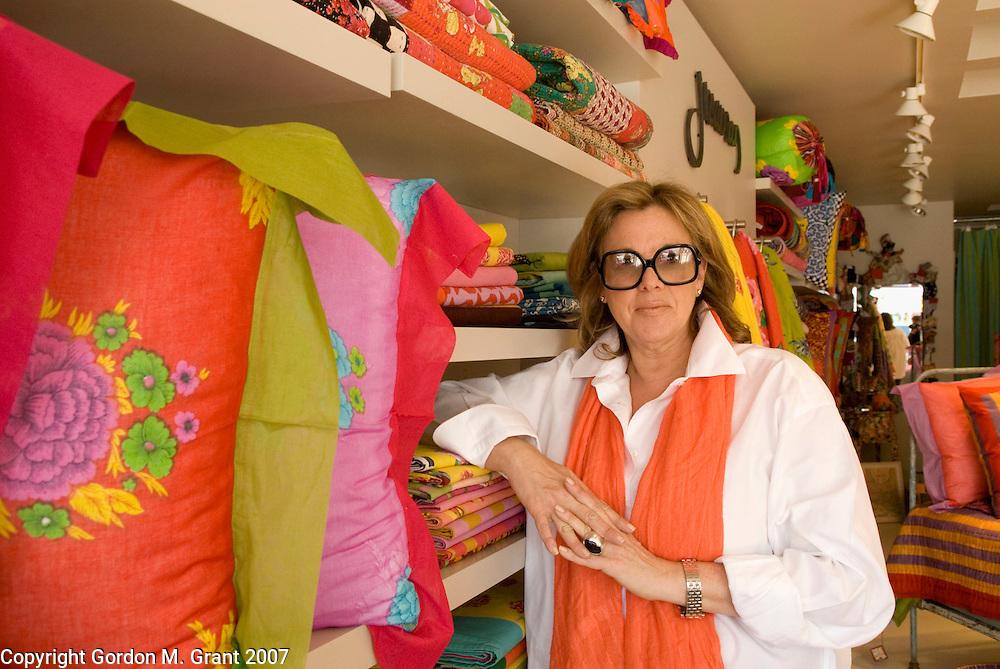 East Hampton, NY - 4/30/07 -   Storeowner Judi Roaman at her new store, J. Roaman, on Newtown Lane in East Hampton, NY April 30, 2007.    (Photo by Gordon M. Grant)