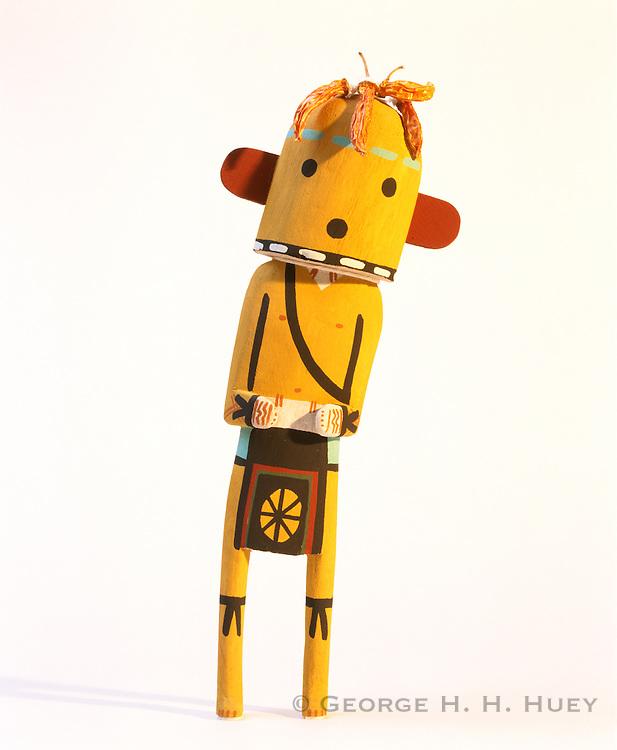 0197-1012 ~ Copyright: George H. H. Huey ~  Hopi Indian carved chili Katsina. Kachina [aka Katsina] dolls/carvings represent spirits that are central to Hopi religion. Artist: Derek Hayah. Arizona.