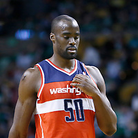 07 April 2013: Washington Wizards center Emeka Okafor (50) is seen during the Boston Celtics 107-96 victory over the Washington Wizards at the TD Garden, Boston, Massachusetts, USA.