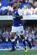 Picture by Richard Calver/Focus Images Ltd +447792 981244<br /> 28/09/2013<br /> David McGoldrick of Ipswich Town celebrates his opening goal of the game against Brighton and Hove Albion during the Sky Bet Championship match at Portman Road, Ipswich.