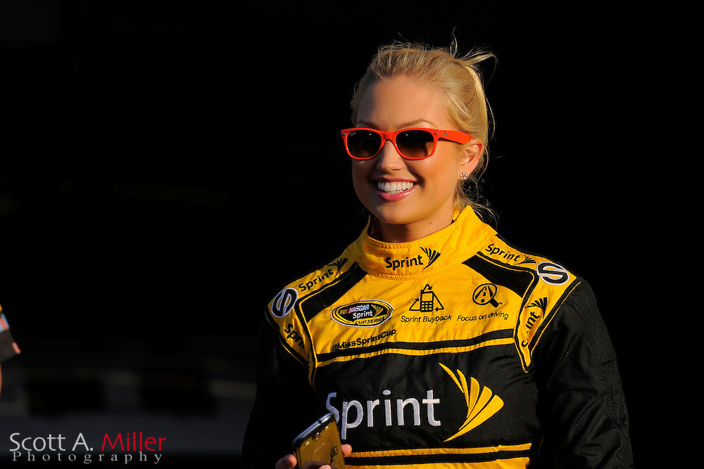 Sprint Cup girl Brooke Werner during practice for the Sprint Unlimited on Feb 15, 2013  in Daytona Beach, Florida. ..©2013 Scott A. Miller
