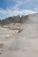 Bumpass Hell is the largest concentration of hydrothermal features in Mt Lassen National Volcanic Park in California.