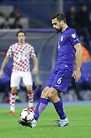 ZAGREB, CROATIA - NOVEMBER 09:  Alexandros Tziolis of Greece controls the ball during the FIFA 2018 World Cup Qualifier play-off first leg match between Croatia and Greece at Maksimir Stadium on November 9, 2017 in Zagreb, Croatia. (Luka Stanzl/PIXSELL)