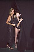 Lady Victoria Hervey and Jodie Kydd. Moet & Chandon fashion Tribute. Shoreditch High St. London 24 October 2000. © Copyright Photograph by Dafydd Jones 66 Stockwell Park Rd. London SW9 0DA Tel 020 7733 0108 www.dafjones.com
