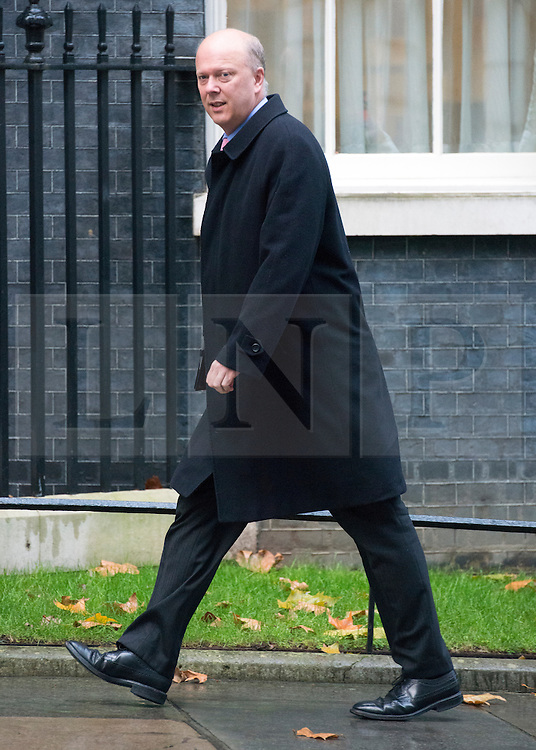 © Licensed to London News Pictures. 18/11/2014. Westminster, UK. Chris Grayling, Conservative MP, Ministers and MP's on Downing Street 18th November 2014. Photo credit : Stephen Simpson/LNP