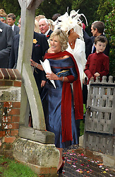 ANNABEL ELLIOT sister of Camilla Parker Bowles at the wedding of Tom Parker Bowles to Sara Buys at St.Nicholas Church, Rotherfield Greys, Oxfordshire on 10th September 2005.<br />