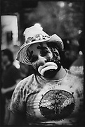 A Grateful Dead fan in his Clown outfit, San Francisco, USA, 1980