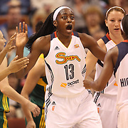 Chiney Ogwumike, Connecticut Sun, during the Connecticut Sun Vs Seattle Storm WNBA regular season game at Mohegan Sun Arena, Uncasville, Connecticut, USA. 23rd May 2014. Photo Tim Clayton