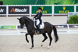 Kristina Sprehe, (GER), Desperados FRH - Grand Prix Team Competition Dressage - Alltech FEI World Equestrian Games™ 2014 - Normandy, France.<br /> © Hippo Foto Team - Leanjo de Koster<br /> 25/06/14