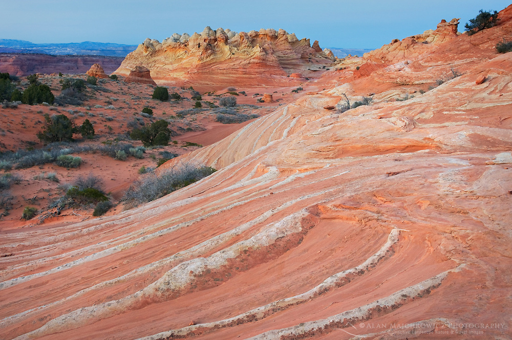 Dusk over South Coyote Buttes, Vermilion Cliffs Wilderness Utah