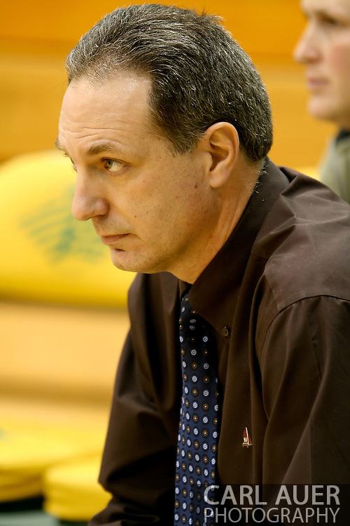 1/13/2006: Rusty Osborne, Seawolves head coach as Alaska Anchorage gets a comeback victory over Northwest Nazarene, 60-57, in men?s basketball action at the Wells Fargo Sports Complex on Saturday.