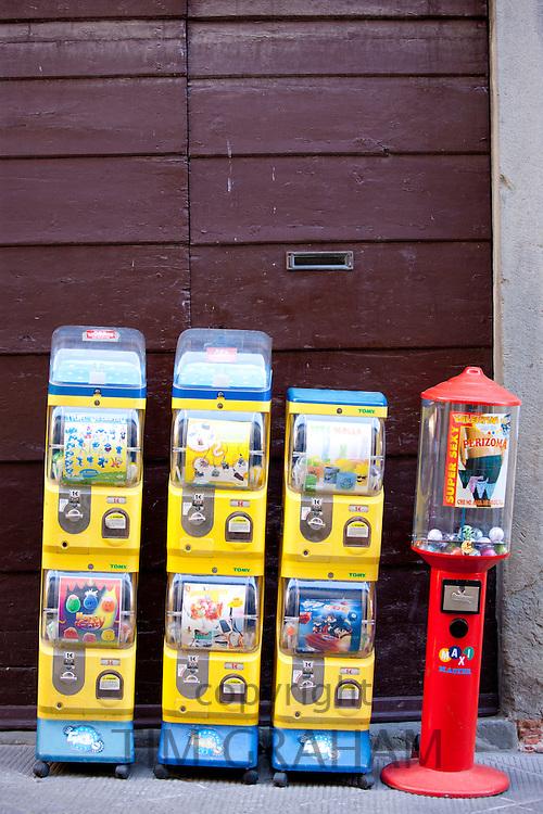 Sweet dispensers  in Radda-in-Chianti, Tuscany, Italy