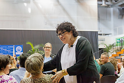 2017 Student Convocation with featured honored guest the Honorable Sonia Sotomayor, Associate Justice, United States Supreme Court.  UVI Sports and Fitness Center.  St. Thomas, USVI.  9 February 2017.  © Aisha-Zakiya Boyd