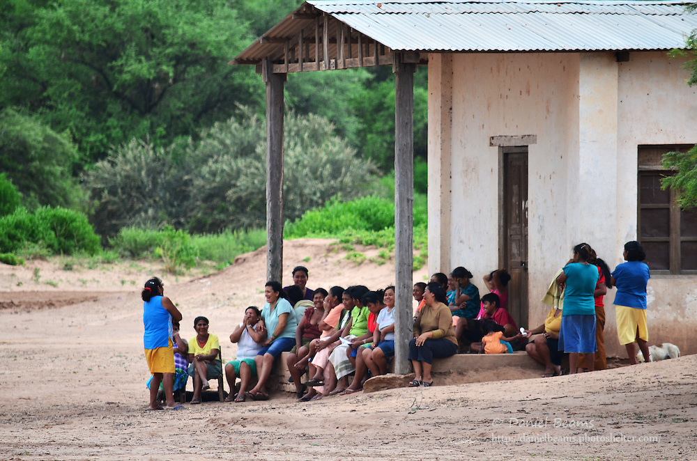 Guarani women in a community meeting in Isosog, Santa Cruz, Bolivia